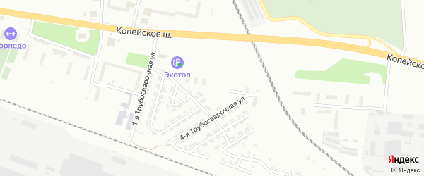 Угольная улица на карте Копейска с номерами домов