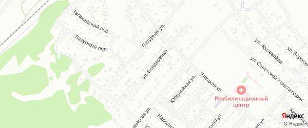 Улица Бондаренко на карте Копейска с номерами домов