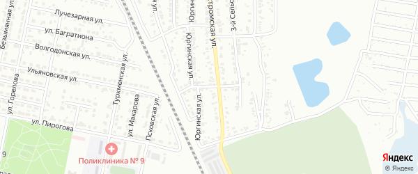 Оханская 3-я улица на карте Челябинска с номерами домов