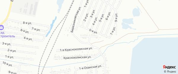 Артельный 2-й переулок на карте Челябинска с номерами домов