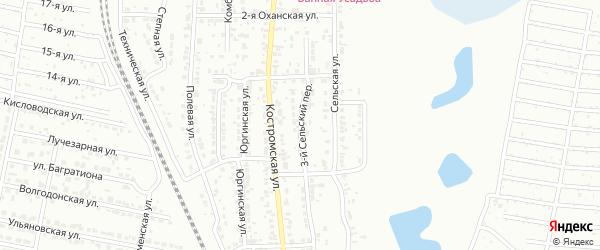 Сельский 3-й переулок на карте Челябинска с номерами домов