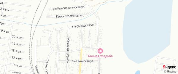 Сельский 5-й переулок на карте Челябинска с номерами домов