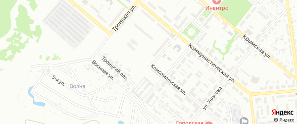 Комсомольская улица на карте Копейска с номерами домов