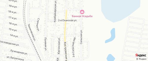 Сельский 4-й переулок на карте Челябинска с номерами домов