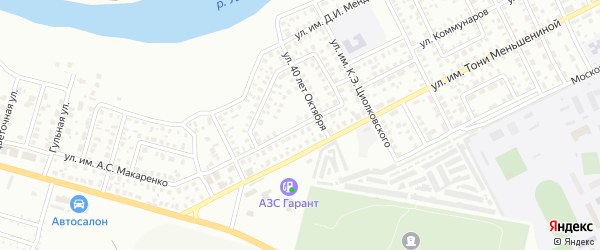 Окружная улица на карте Троицка с номерами домов