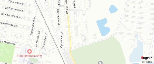 Сельский 1-й переулок на карте Челябинска с номерами домов