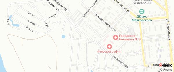 Улица Алексеева на карте Копейска с номерами домов