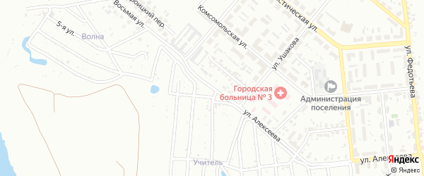 Улица Алексеева на карте Челябинска с номерами домов