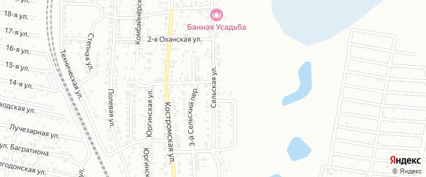 Сельская улица на карте Челябинска с номерами домов