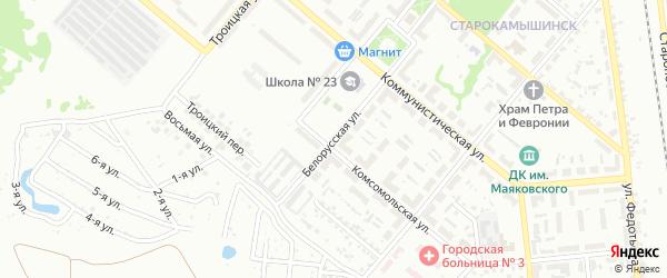 Белорусская улица на карте Копейска с номерами домов