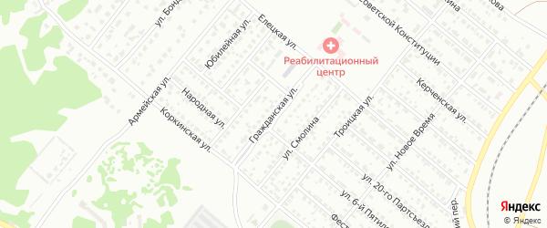 Гражданская улица на карте Копейска с номерами домов
