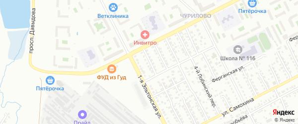 Норильский 1-й переулок на карте Челябинска с номерами домов