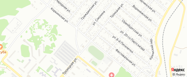 Троицкая улица на карте Копейска с номерами домов