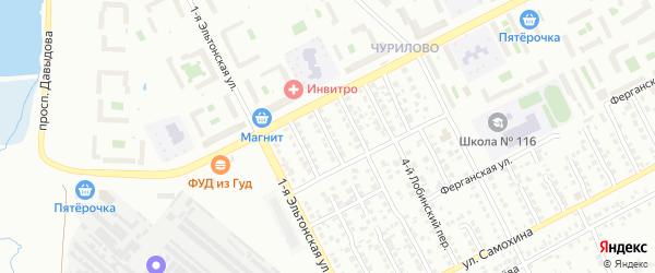 Норильский 2-й переулок на карте Челябинска с номерами домов