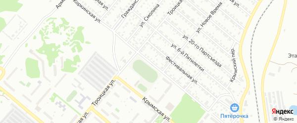 Коркинская улица на карте Копейска с номерами домов