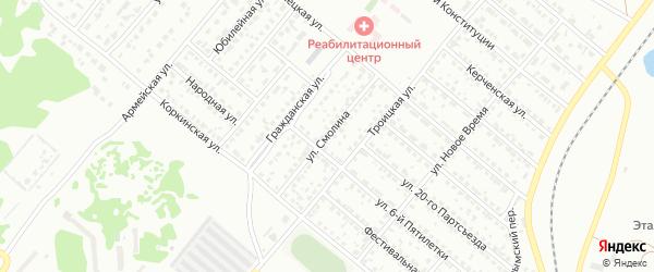 Улица Смолина на карте Копейска с номерами домов