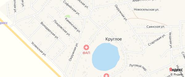 Озерная улица на карте деревни Круглого с номерами домов