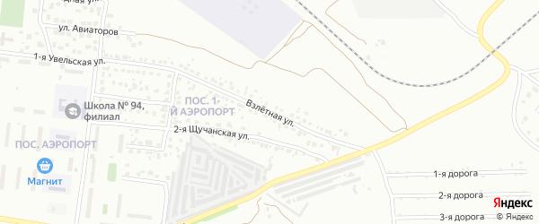 Взлетная улица на карте Челябинска с номерами домов