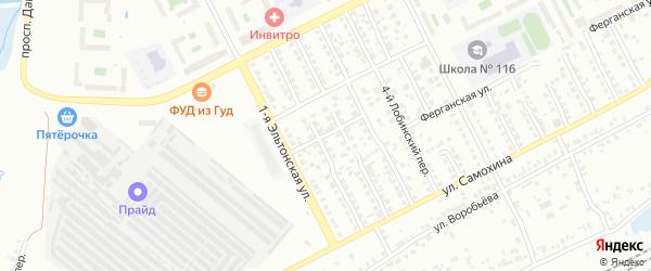 Эльтонский 1-й переулок на карте Челябинска с номерами домов