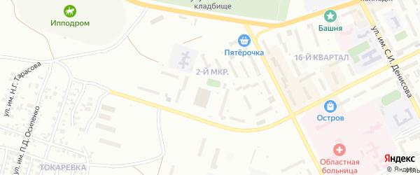 2-й микрорайон на карте Троицка с номерами домов