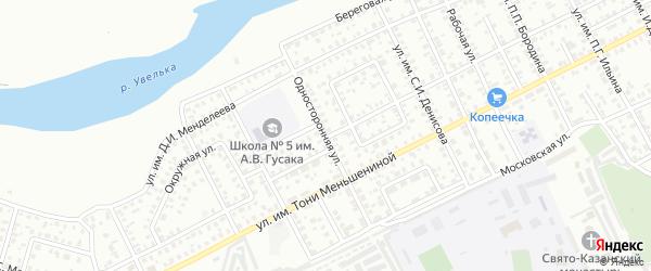 Односторонняя улица на карте Троицка с номерами домов