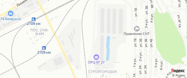 Улица 2 Стройгородок на карте Челябинска с номерами домов