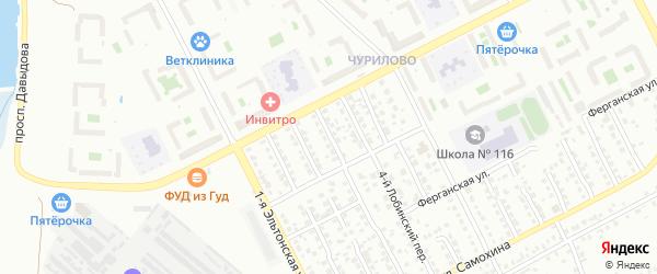 Норильский 3-й переулок на карте Челябинска с номерами домов