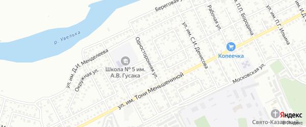 Улица Коммунаров на карте Троицка с номерами домов