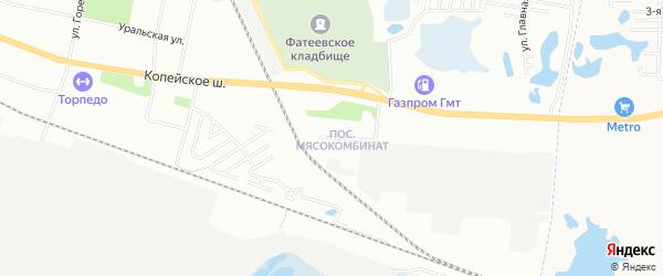 Карта поселка Мясокомбинаты города Челябинска в Челябинской области с улицами и номерами домов