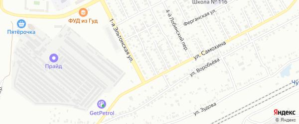 Лобинский 1-й переулок на карте Челябинска с номерами домов