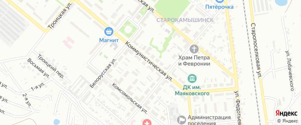 Коммунистическая улица на карте Копейска с номерами домов