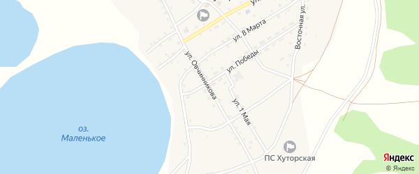 Улица Овчинникова на карте села Хуторки с номерами домов