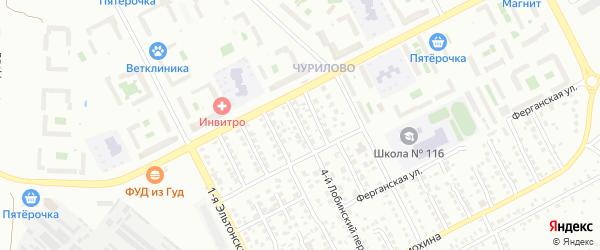 Норильский 4-й переулок на карте Челябинска с номерами домов