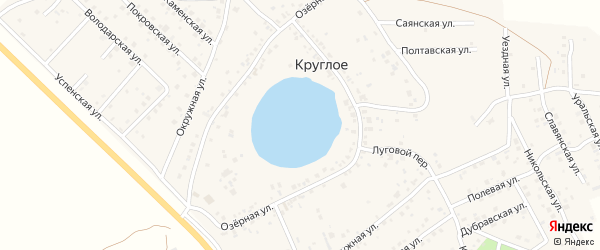 Луганская улица на карте деревни Круглого с номерами домов