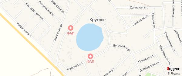 Луговой переулок на карте деревни Круглого с номерами домов