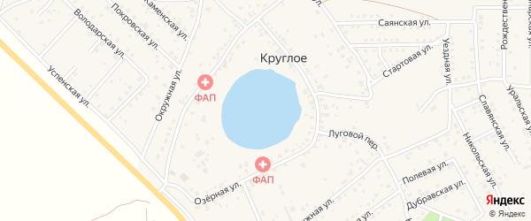 Спасская улица на карте деревни Круглого с номерами домов