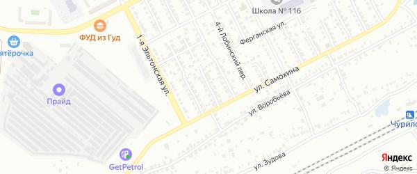 Лобинский 2-й переулок на карте Челябинска с номерами домов