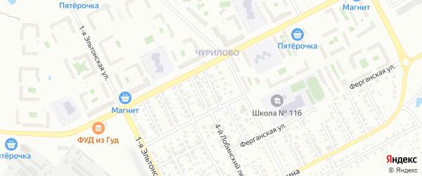 Норильский 5-й переулок на карте Челябинска с номерами домов