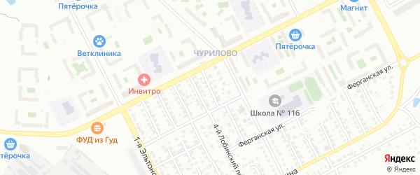 Эльтонский 5-й переулок на карте Челябинска с номерами домов