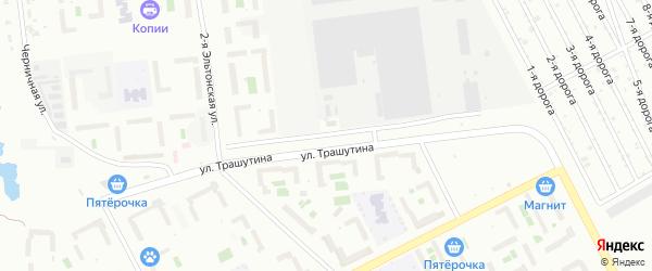 Улица Трашутина на карте Челябинска с номерами домов