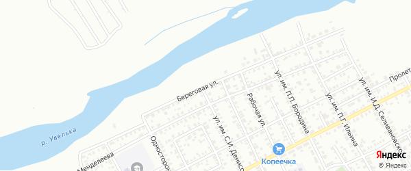 Береговая улица на карте Троицка с номерами домов