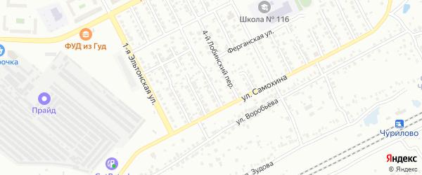 Лобинский 3-й переулок на карте Челябинска с номерами домов