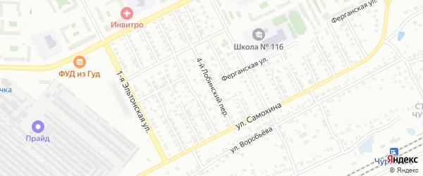 Лобинский 4-й переулок на карте Челябинска с номерами домов