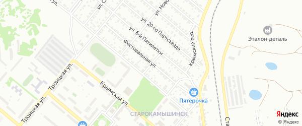 Фестивальная улица на карте Копейска с номерами домов