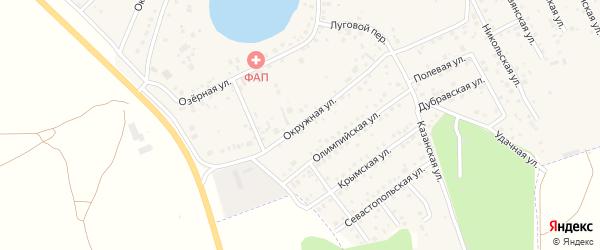 Окружная улица на карте деревни Круглого с номерами домов