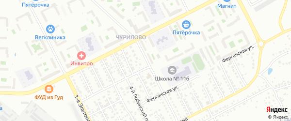 Эльтонская 2-я улица на карте Челябинска с номерами домов