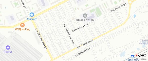 Лобинский 5-й переулок на карте Челябинска с номерами домов