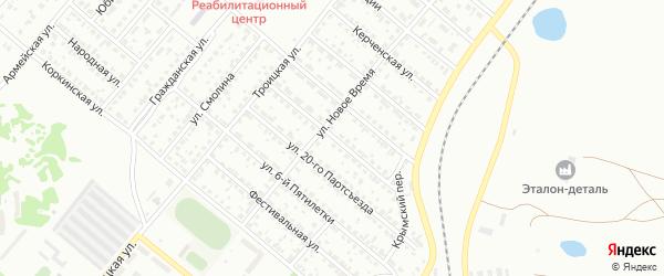 Оренбургская улица на карте Копейска с номерами домов