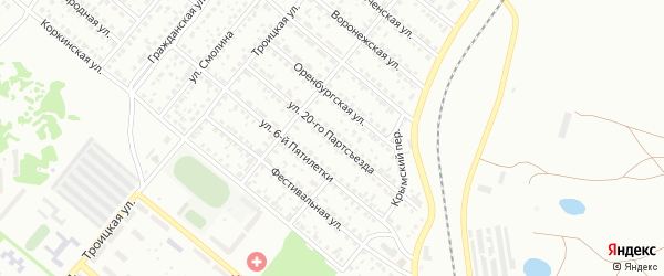 Улица 20 Партсъезда на карте Копейска с номерами домов