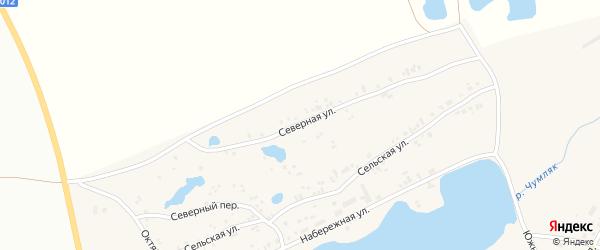 Северная улица на карте села Калачево с номерами домов